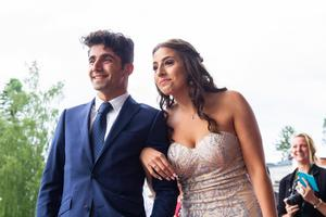 Ghaith AL-Tameemi och Nova El-Moussaoui Arefjärd hade fullt upp med att vända blicken mot alla kamerorna.