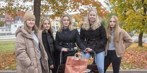 Maja Almquist, Thelma Hollanti, Maja Nordfeldt, Matilda Sjögren och Elin Wiren hoppas med sitt UF Rebicycle hjälpa folk att källsortera.