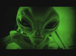 En alien, som vi genom populärkulturen lärt oss att de ofta ser ut. Foto: Beckie/Flickr