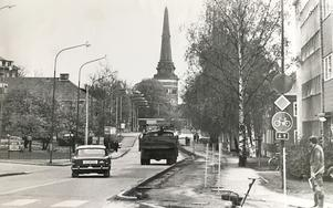 Skultunavägen i oktober 1974. Foto: VLT:s arkiv