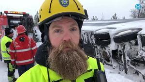 Räddningsledaren Elias Kristoffersson.