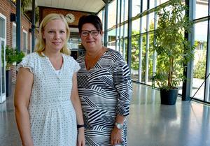 Lärarna Linda Blomström och Eva-Lis Åkergården Stenman har undervisat på vård- och omsorgsprogrammet sedan starten. Linda byggde upp utbildningen ett år innan de första eleverna började.
