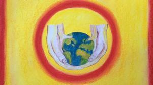 Orsabor samlades på Slipstenstorget för att manifestera för klimatet.