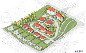 Så ska det nya området se ut, enligt arkitektens skiss. Bild: Ark 1