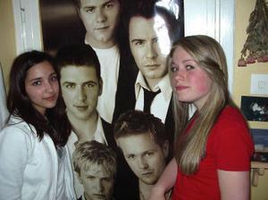 Nina och Carolin är stora Westlife-fans.