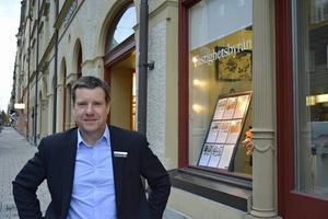 Kent Selin, kontorschef på Fastighetsbyrån, är nöjd med rekordsiffrorna.