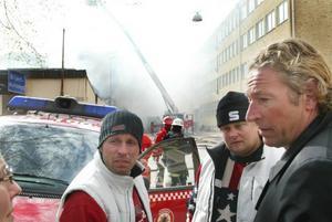 GD den 17 maj 2005. Första attentatförsöket misslyckades.Thomas Vesterinen (tv) och Peter Pirre Persson (mitten) drev nattklubben som Christer Ohlsson (th) ägde.