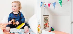 Trolla med tyg och loppisfynd och skapa ett ombonat första rum åt barnet.