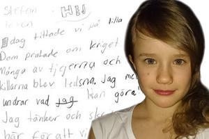 Nikita Markgren blev ledsen när hon såg Lilla Aktuellts avsnitt om kriget i Syrien.