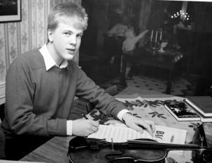 Robert Westlund som ung stipendiat 1990.
