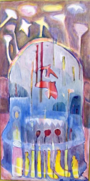 Marioa Nordenmarks målningar präglas av en omisskännlig sakral ton.