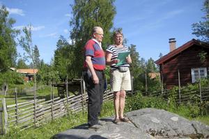 Ove Lärke och Ines Larsson Lärke  i Västtjärnslindan. Foto: Olle Belin.