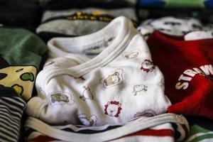 Alla kläder i Klädbytesgarderoben är noggrant sorterade.