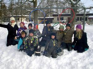 Askens hus på Tulpanens skola ordnade nyligen ett eget vinter- OS.