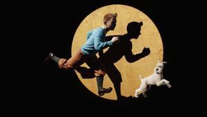 Tintin med den trofasta hunden Milou.
