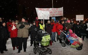 Kommunalare demonstrerade i Borlänge. foto: staffan björklund
