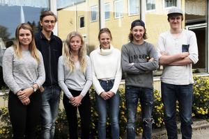 Frida Granberg, Andreas Broberg, Agnes Wiklund, Linnéa Mogren, Jonas Nordlund och Hampus Roos tillhör den rökfria generationen vid Alftaskolan.