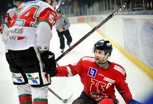 Dan Iliakis och Henrik Löwdahl i höstas. Nu blir de lagkamrater i Örebro Hockey.