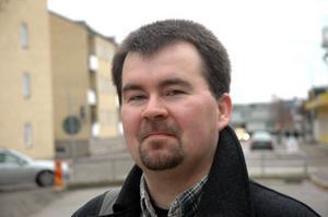Joakim Larsson, ordförande för SD i Tierp.