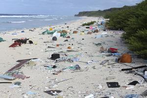 Stränderna på den ensligt belägna ön Henderson Island är fulla av plast. Det är ett bra exempel på hur stort problemet är med plast i haven. Om utsläppen fortsätter i samma takt som de senaste decennierna så lär det år 2050 finnas mer plast i haven än fisk.