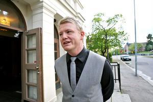 Christer Johansson, som ligger bakom Småstadsliv 2, besökte visningen av filmen i Söderhamn.