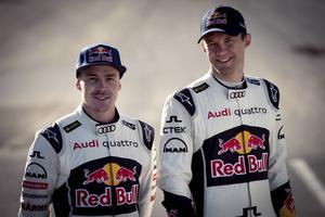 Toomas Topi Heikkinen och Mattias Ekström.