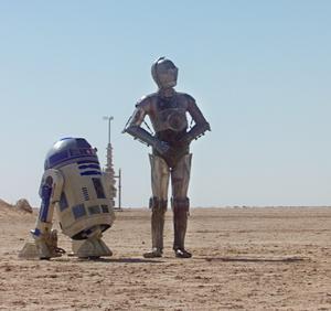 R2-D2 och C-3PO i Star Wars-filmen