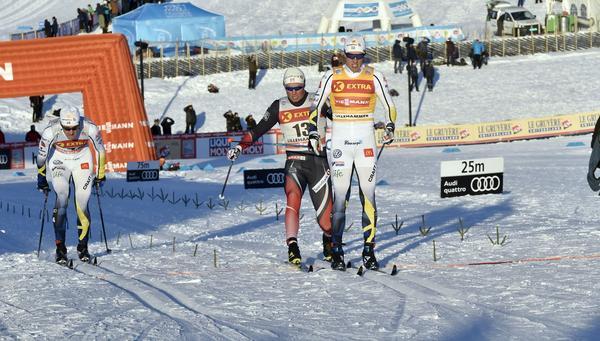 Calle Halfvarsson vinner före Emil Iversen medan han samtidigt ger Teodor Peterson chansen att nå andraplatsen
