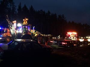 Två personer var inblandade i olyckan, som inträffade på onsdagsmorgonen på E4.