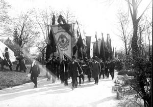 Den sista färden genom Stockholm i maj 1912.