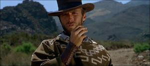 Clint Eastwood spelar Mannen utan namn i Sergio Leones