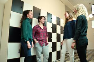 Märta Ericson, Josefin Bergström, Ronja Rantanen och Linn Svärdhagen går i tvåan på Kristinegymnasiet.