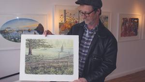 Åke Bodestedt från Prästhyttan blev särskilt förtjust i ett litografi av en gärdsgård.