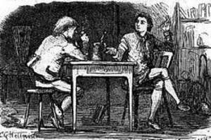 Carl von Linné lyssnar och lär av Peter Artedi i Uppsala. Dokumentärfilmaren Stefan Jarl hävdar att Carl von Linné var en Salieri och att ångermanlänningen var en Mozart.