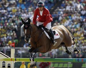 Världsstjärnan Eric Lamaze på sin häst