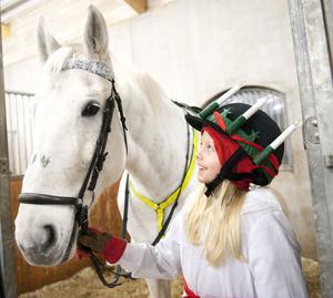 Åttaåriga Ida Nordin och hästen Cassie tog täten.