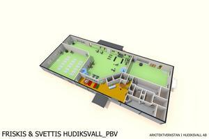 Den nedre våningen kommer att husera bland annat två salar och ett gym.