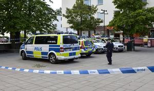 Det var i söndags som mannen mördades på Lidingö.