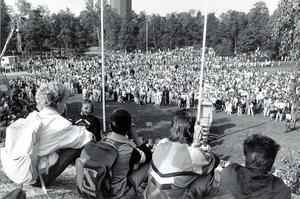 Nationaldagsfirande på Djäkneberget 1989.
