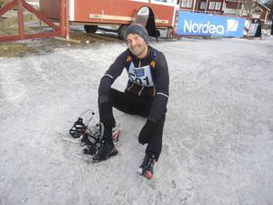Robin Westling debuterade som snöskolöpare.