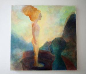 Marin Hemmingsson ställer ut tavlor målade med bivaxtempera på Galleri S.