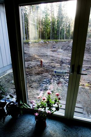 Glasparti i poolrummet. Mest fönster åt söder och alla är lågenergifönster.
