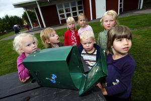 Trötta på sabotage. Postlådan på Hönsarvsgården har blivit förstörd för fjärde gången. Nu har både barn och personalen tröttnat och istället ordnat en portabel brevlåda. Foto:Mikael Hellsten