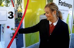 Kerstin Rahm inviger macken och menar att satsningen visar att Borlänge är en miljökommun.