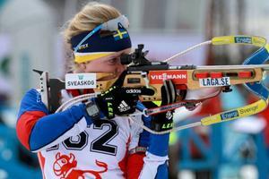 Mona Brorsson gick ut hårt, men orkade inte riktigt fullfölja tävlingen.