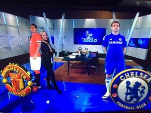 Söndag: Hängde lite med de här grabbarna inför Manchester United–Chelsea! Fantastiskt vad man kan göra med dagens teknik.