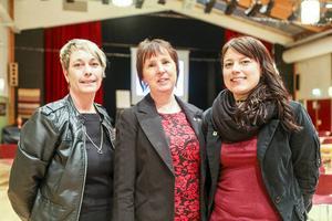 Anna-Lena Andersson, Gunilla Zetterström Bäcke och Helena Larsson (V), en trio som kan ta över kommandot i KLU i framtiden.