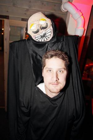 Stefan Larsson från Krokom är utklädd till monster. Han har varit på Forum många gånger förut.– Det är första gången jag har den här kostymen, men den har också varit med här förut, säger han.