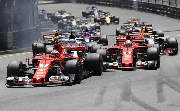 Starten av Monacos GP 2017.