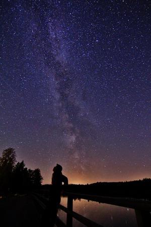Denna natt var en av de magiska jag haft. Vår galax (Vintergatan) syntes lika väl som solen skiner under en klar blå dag. I framtiden hoppas jag på att få bo långt ute i landet där Vintergatan syns lika bra som den gjorde här på bilden. Det vore som